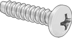 "Pan Head Phillips--Type 316 Stainless Steel, 4-24--#1 Drive, 3/8"" long - #Screw-SsRF3/8"