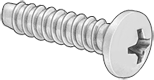 "Pan Head Phillips--Type 316 Stainless Steel, 4-24--#1 Drive, 3/8"" long - #Screw-SsRF3/8"