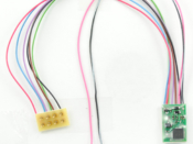 "1377 Decoder with 5"" harness and 8-pin NMRA Plug - #TCS-FL4P-5"""