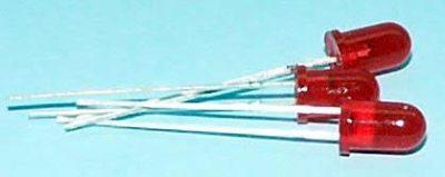 5mm Red Flashing Diffused LED - #LED-5RF