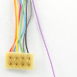 "1391 HO/N-Scale 4-Function decoder, 1"" wires to 8-pin plug"