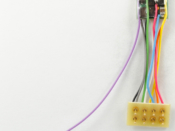"""1400 HO/N-Scale 4-Function decoder, 1"""" wires with rev 8-pin plug"""