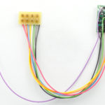 "1393 HO/N-Scale 4-Function decoder, 3.5"" wires with rev 8-pin plug"