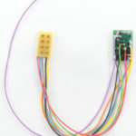 "1396 HO/N-Scale 4-Function decoder, 3.5"" wires with 8-pin plug 90 Deg"