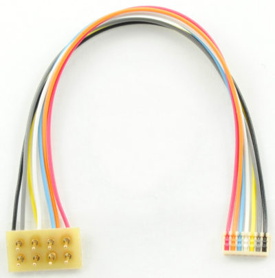 """1368 MC-3.5""""R is a 3.5"""" or 75mm MC series harness with a 8 pin NMRA plug which is rotated 180 degrees"""