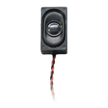 26.5mm x 15.5mm x 9mm 8 Ohm 1/2 W Speaker with Encl w/wires - #SP-15x26-08ENC