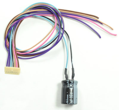 1592 Replacement auxiliary harness for the WOWSound decoder line with a K2 Keep-Alive (TM) device attached - #TCS-WAUX-CAP