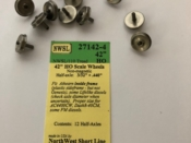 Wheel set HO 42 inch nickel silver with half axles for Athearn & Life-Like HO Locos TWELVE PACK - #053-27142-4