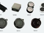 Speaker Enclosure for 20 x 40mm (0.86 x 1.45 inch) rectangular speaker - #SPENC-20x40