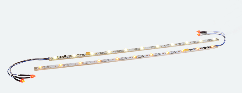 "Digital LED lighting strip with integrated Digital decoder and taillight, 255mm, 11 LEDs, ""yellow"" - #397-50709"