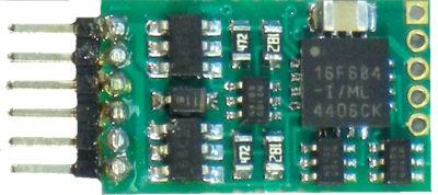 5240160 Plug in 4 decoder with 6 pin NEM 651 connector - #524-N12-NEM