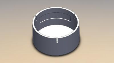 28.9mm Round Speaker Enclosure for SP-27RHB-08 (1.06 inch) - #SPENC-27H16R