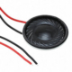 Speaker Round 28mm (1.102 inch) diameter, 5.5 mm (0.217 inch) deep, 8 ohms, 2-2.5W, with wires - #SP-28R-08-W