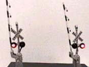 Crossbuck w/Modern Pedestal-Type Gate - Assembled -- Bi-Direction - #525-1164