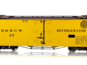 HOn3 D&RGW 30-Foot Refrigerator Car #54 Flying Grande Herald - #678-B340811