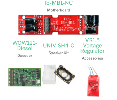1778 WDK-ATH-11 WOWKit is a DCC sound total conversion kit - #TCS-WDK-ATH-11