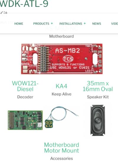 1782 WDK-ATL-9 WOWKit is a DCC sound total conversion kit - #TCS-WDK-ATL-9