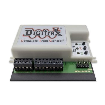 Quad Switch Stationary Decoder, 4 Turnouts, 8 Inputs - #245-DS74